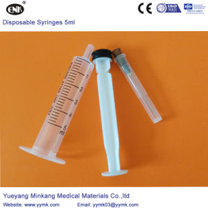Disposable Sterile Syringe with Needle 5cc (ENK-DS-052) pictures & photos