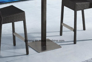 Hotel Furniture Bar Stool Using for Club Mading by Aluminum +Synthetic Rattan Woven (YT538) pictures & photos
