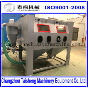 High pressure manual sandblasting cabinet for dental sandblasting