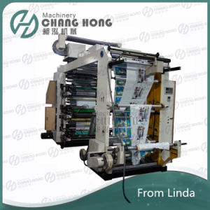 Six Colour High Speed Nonwoven Flexographic Printing Machine (CE) pictures & photos