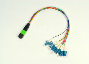 MPO/PC-LC Fiber Optic Fan out Cable pictures & photos