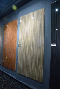 Water Resistant MDF UV Sheets with Melamine MDF (wooden grain color) pictures & photos
