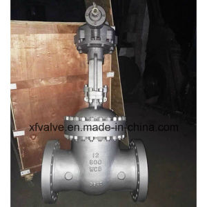150lb 300lb 600lb Cast Steel Bevel Gear Operation Gate Valve