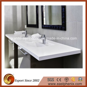 Pure White Artificial Stone Bathroom Sink pictures & photos