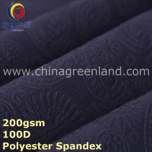 Knitted Embossed Polyester Spandex Fabric for Dress Textile (GLLML295) pictures & photos