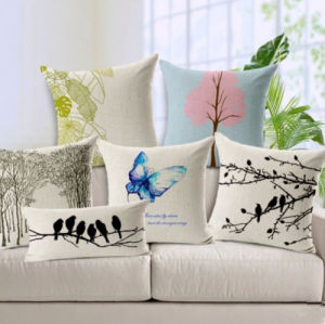 Small Fresh Garden Butterfly Forest Cotton Pillow/Chshion pictures & photos