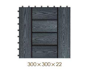 300*300*22mm Decorative WPC DIY Floor Tile, Wood Plastic Composite Decking pictures & photos