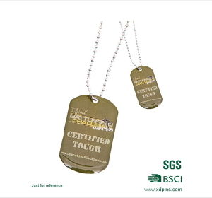 Customized fashion Metal Comb Shaped Dog Tag with Own Logo (XDDT-02) pictures & photos