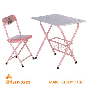 Pink Color of School Children Desk and Chair pictures & photos