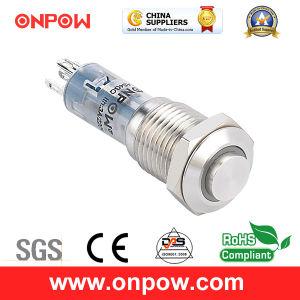 Onpow 12mm Push Button Switch (LAS4GQH-11E/R/12V/S) pictures & photos