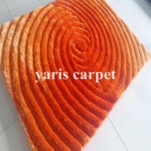Orange Circle Design Home Shaggy Carpet