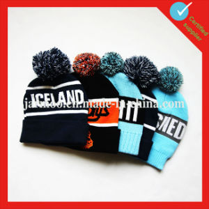 Acrylic Custom Knit Beanie POM pictures & photos