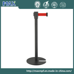 Black Powder Coated Stackable Belt Stanchion pictures & photos