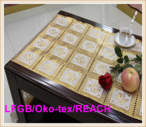 PVC 50cm Golden Long Lace Doily pictures & photos