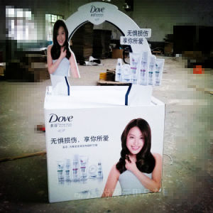 Colorful Paper Cardboard Pallet Display Box for Cosmetics pictures & photos