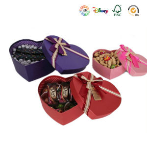 Heart Shape Paper Snacks Boxes with Bowknots pictures & photos