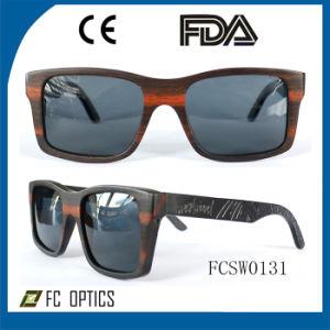 Customized Adult Polarized Bamboo Eyewear Wooden Frame Sunglasses pictures & photos