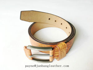 Factory Price Fashion Men Covered Buckle Italian Leather Belt pictures & photos
