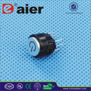 Power Symbol Illmuniated Tactile Micro Switch, LED Tact Switch (TSL06223M) pictures & photos