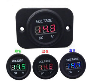 Waterproof 12V-24V Car Motorcycle LED DC Digital Display Voltmeter Meter pictures & photos