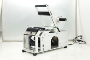 Semi Automatic Adhesive Sticker Wine Labeling Machine pictures & photos
