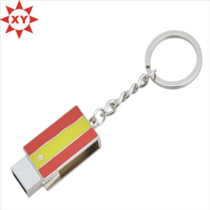 New Arrival Novelty Colorful Alloy Keychain with Ring pictures & photos