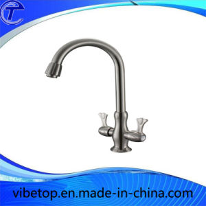 Double Handle Zinc Alloy Bath Shower Faucet pictures & photos
