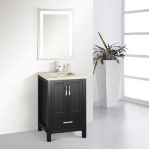 Slim Oak Wood Floor Standing Bathroom Vanity