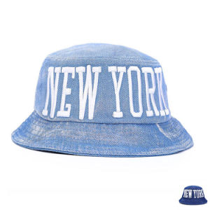 Fashion Embroidered Cotton Denim Bucket Leisure Hat (YKY3211) pictures & photos