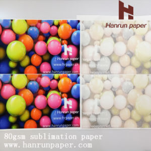 Low Weight 70/80GSM Fast Dry Dye Sublimation Transfer Paper Roll Size pictures & photos
