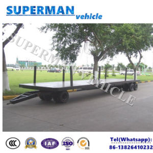 20t Flatbed Cargo Transport Industrial Drawbar Trailer pictures & photos