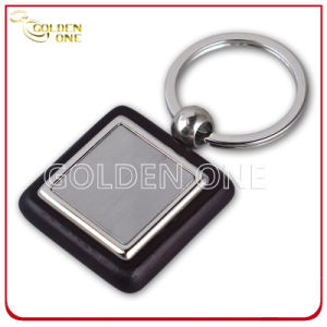 Fancy Style Wooden Key Chain with Square Shape Metal pictures & photos