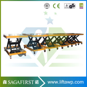 1ton 2ton Hydraulic Fixed Roller Table Lifter Wood Conveyor pictures & photos