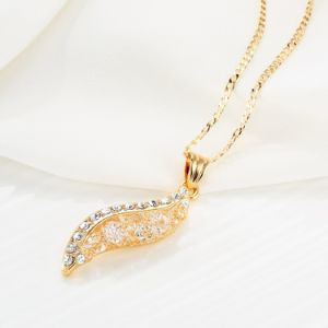 New Item Mesh design Crystal Pendant Gold Necklace pictures & photos
