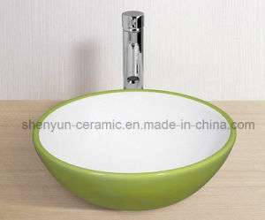 Ceramic Wash Basin Bathroom Color Basin (MG-0053) pictures & photos