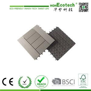 Engineered Flooring Type and Wood-Plastic Composite Flooring Technics WPC Eco Patio Floor Tiles pictures & photos