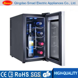 Mirror Glass Door LED Light Thermoelectric Wine Cooler pictures & photos