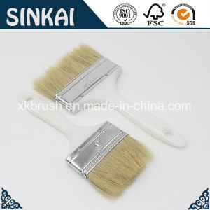 Competitive Price Plastic Painting Brush with Natural Bristle pictures & photos