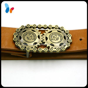 Custom Individual Antique Brass Buckle Vintage Leather Belt pictures & photos