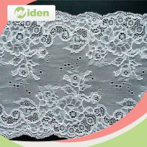 Wholesale French Lace Fabric Wide Stretch Lace Trim Elastic Lace pictures & photos