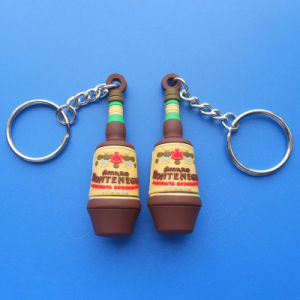 Customize PVC Keychain 3D Bottle Design Keychain pictures & photos