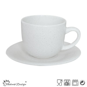 8oz Ceramic Cup and Saucer Seesame Glaze Design pictures & photos