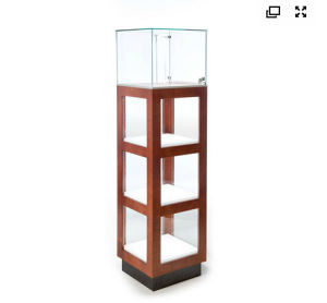 Wood Square Vitrine Pedestal pictures & photos