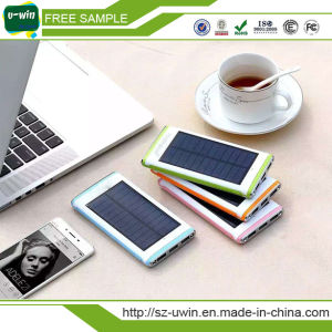 OEM Customized Wholesale 10000mAh Solar Charger Power Bank pictures & photos