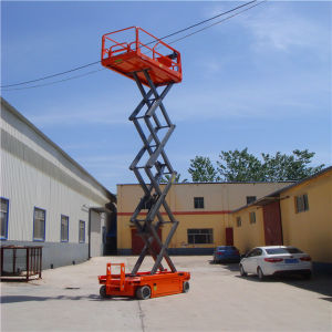 Sjd-8 Self Propelled Hydraulic Lift Table pictures & photos