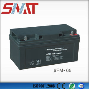 12V 65ah Sealed Lead Acid Battery for Power Supply pictures & photos