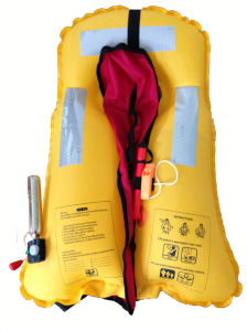 Blue Color Simple Style Inflatable Life Jacket pictures & photos
