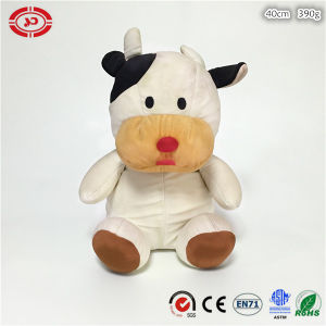 Sitting Cow Animal Soft Stuffed Foam Beads Quality CE Toy pictures & photos