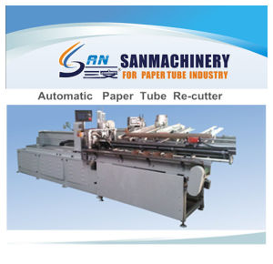 High Efficiency Numerical Control Paper Tube Re-Cutter with Touching Panel pictures & photos