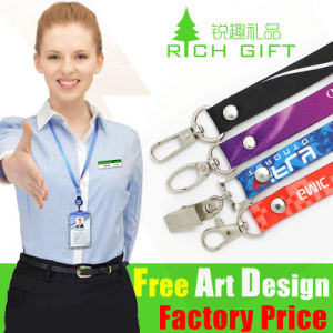 High Quality Belt Custom Logo Printing Lanyards with Bulldog Clip pictures & photos